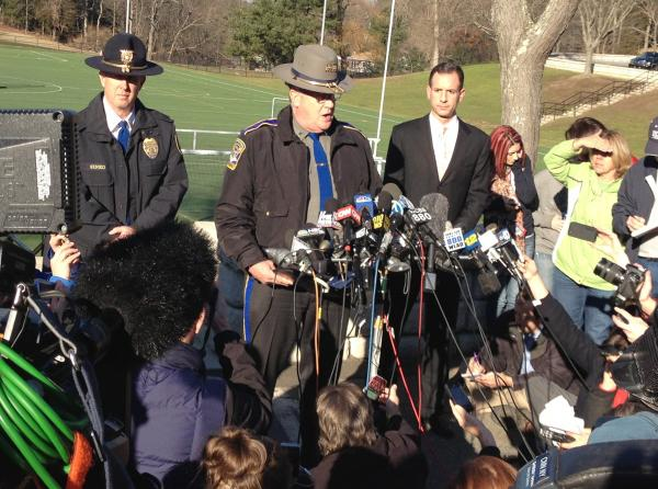 Lt. Paul Vance, spokesman for the Connecticut State Police, in Newtown on December 14, 2012.