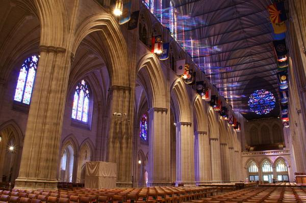 Inside the National Cathedral in Washington, D.C.