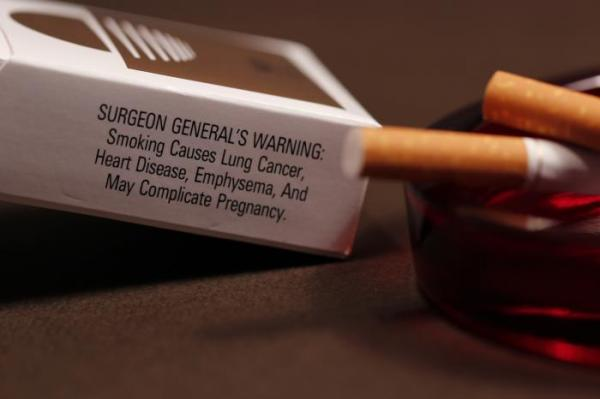 Cigarette packages began to carry a warning from the U.S. Surgeon General.