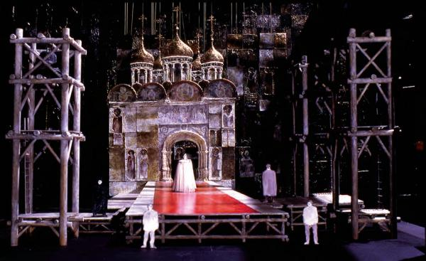 A scale model for Boris Godunov (Coronation) 1974 at the Metropolitan Opera in New York City.