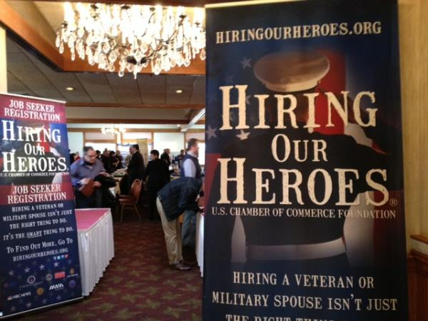 The Hiring Our Heroes fair took place at the Groton Inn and Suites.