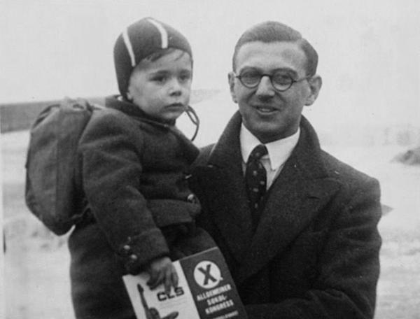 Nicholas Winton rescuing children in 1939, captured in footage  discovered at the Federal Archives in Washington, D.C.