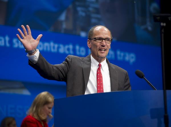 United States Secretary of Labor Thomas Perez speaking at the AFL-CIO Convention in 2013.