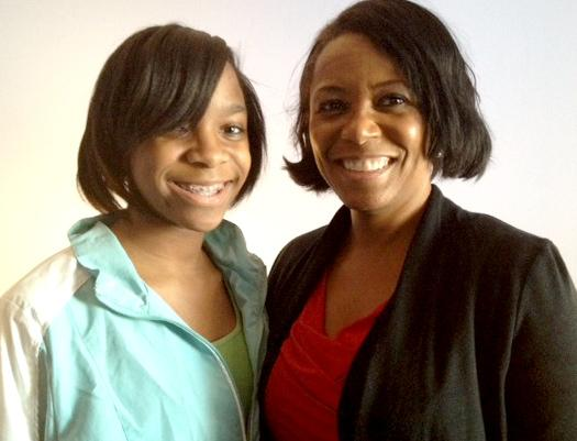 Student Arianna Taft with Patricia Melton, executive director of New Haven Promise.