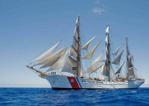 "The U.S Coast Guard's tall ship ""Barque Eagle"" could dock near the National Museum"