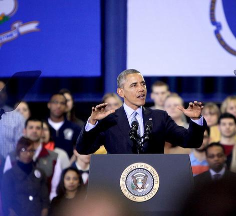 """""""No young person should be priced out of an education,"""" President Obama said at CCSU."""