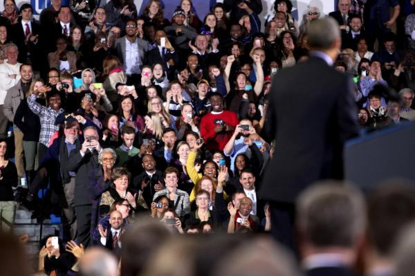 CCSU students were in the audience at President Obama's talk on Wednesday.