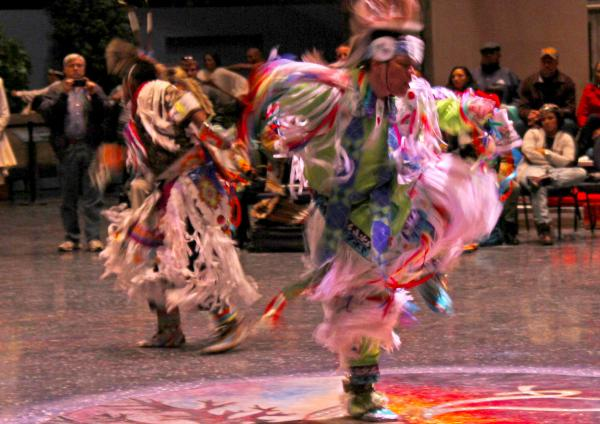 Dancers at an event at the Pequot Museum last fall.