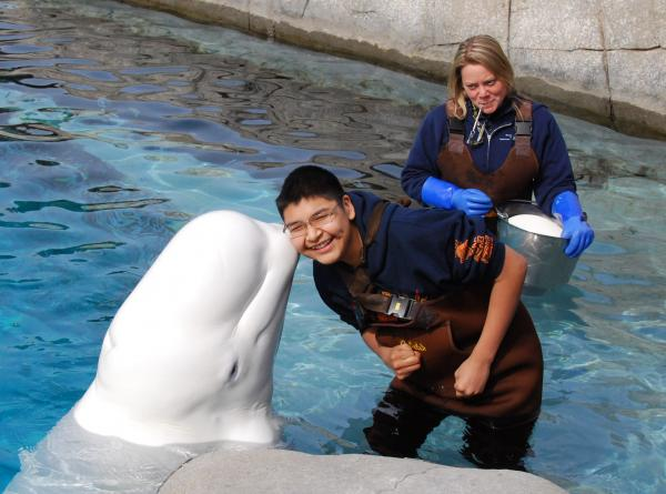 Students from Point Lay, Alaska, were at Mystic Aquarium for a week.