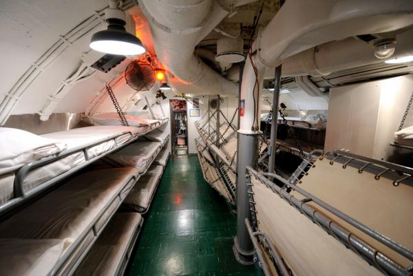 Sleeping quarters on the U.S.S. Bowfin, a World War II submarine permanently moored at Pearl Harbor.