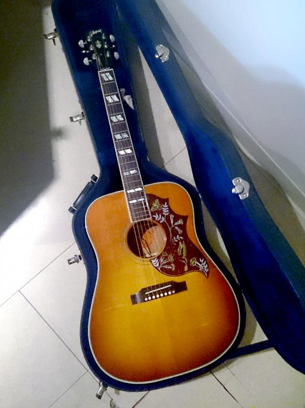 Chion Wolf's Gibson Hummingbird.