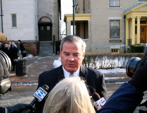Former Gov. John Rowland in Hartford in 2009.