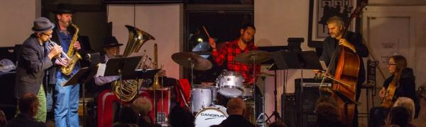 Taylor Ho Bynum and his sextet and 7-tette.