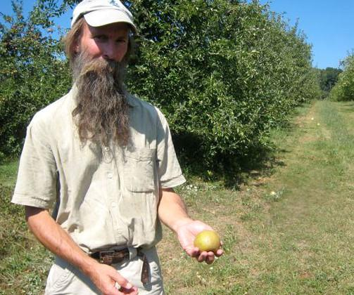 Ezekial Goodband, in Vermont, grows cider apples, like the Roxbury Russet.