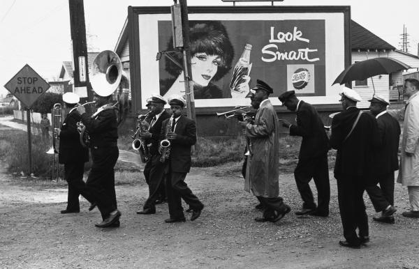 Young Tuxedo Brass Band, 1959. Gelatin silver print.