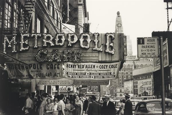 The Metropole Café, New York City, 1954. Gelatin silver print.
