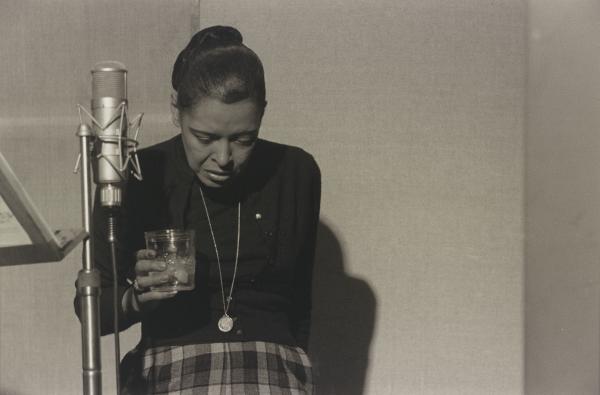 Billie Holiday, Recording Studio, New York City, 1959. Gelatin silver print.