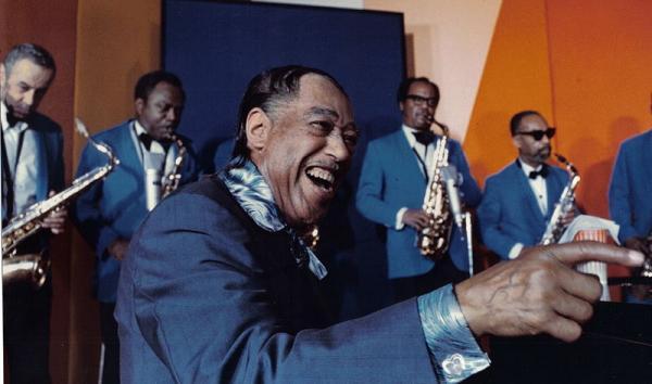 """Duke Ellington in the French film """"L'Aventure du jazz."""""""