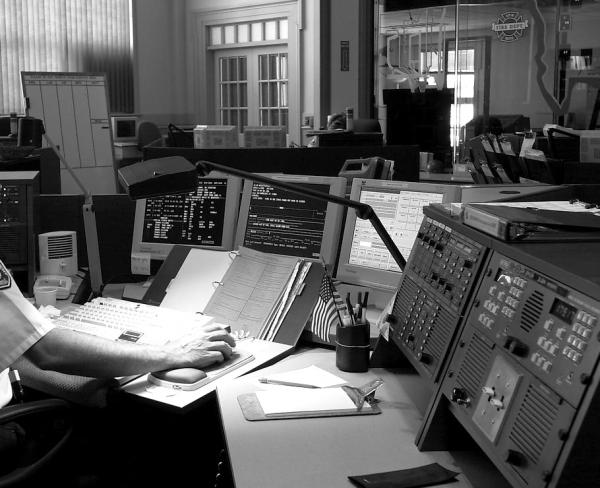 A 911 dispatch center.