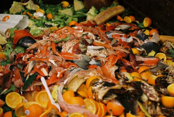 Food waste like this from restaurants is often thrown into a dumpster, but it could generate energy.