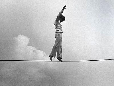 High Wire artist Philippe Petit.