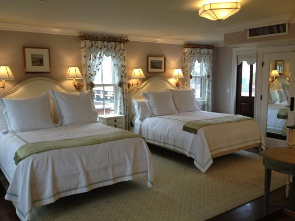 The guest rooms have a feeling of upscale luxury.