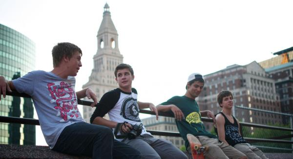 A skateboard team in Hartford.