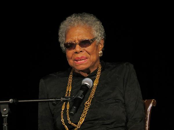 Poet and author Maya Angelou.