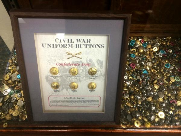 The historic Waterbury Button Company supplied buttons during the Civil War for uniforms worn by both Confederate and Union soldiers.