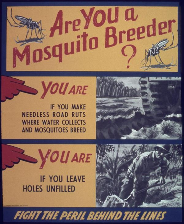 World War II era pamphlet aimed to discourage creation of stagnant water.