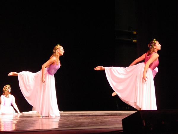 Rusnak's dance students from Naugatuck Valley College perform at Palace Theatre in Waterbury.