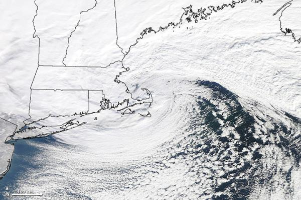 Weather brewing over the northeast.
