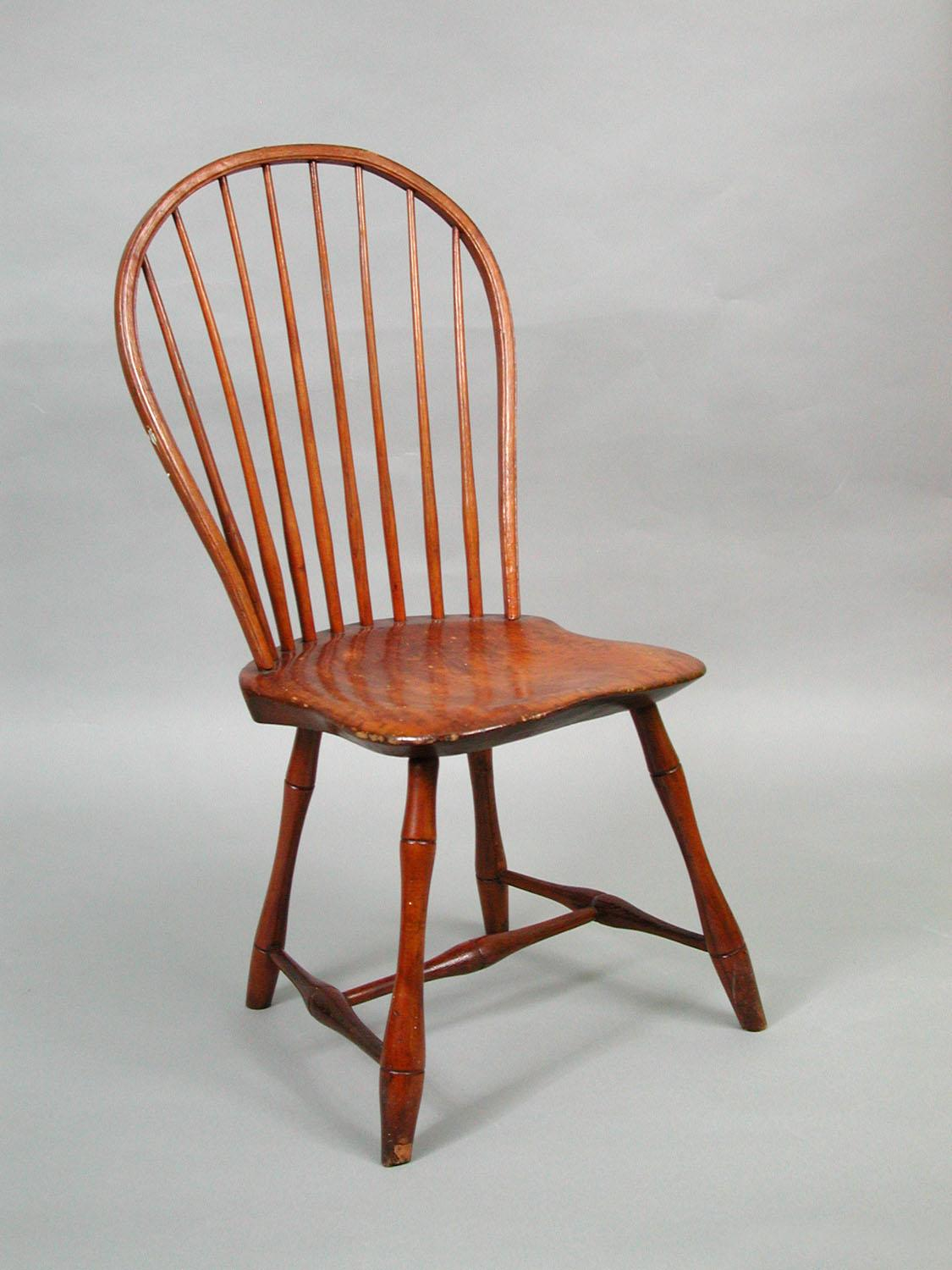 Elegant Windsor Side Chair Made By Amos Denison Allen, Windham, CT, 1795 1810.
