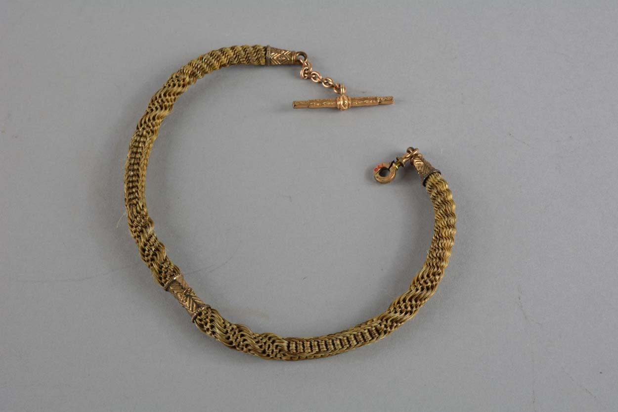 Watch Chain Made With Hair From The Of Wadsworths Favorite Horse Late 18th Early 19th Century