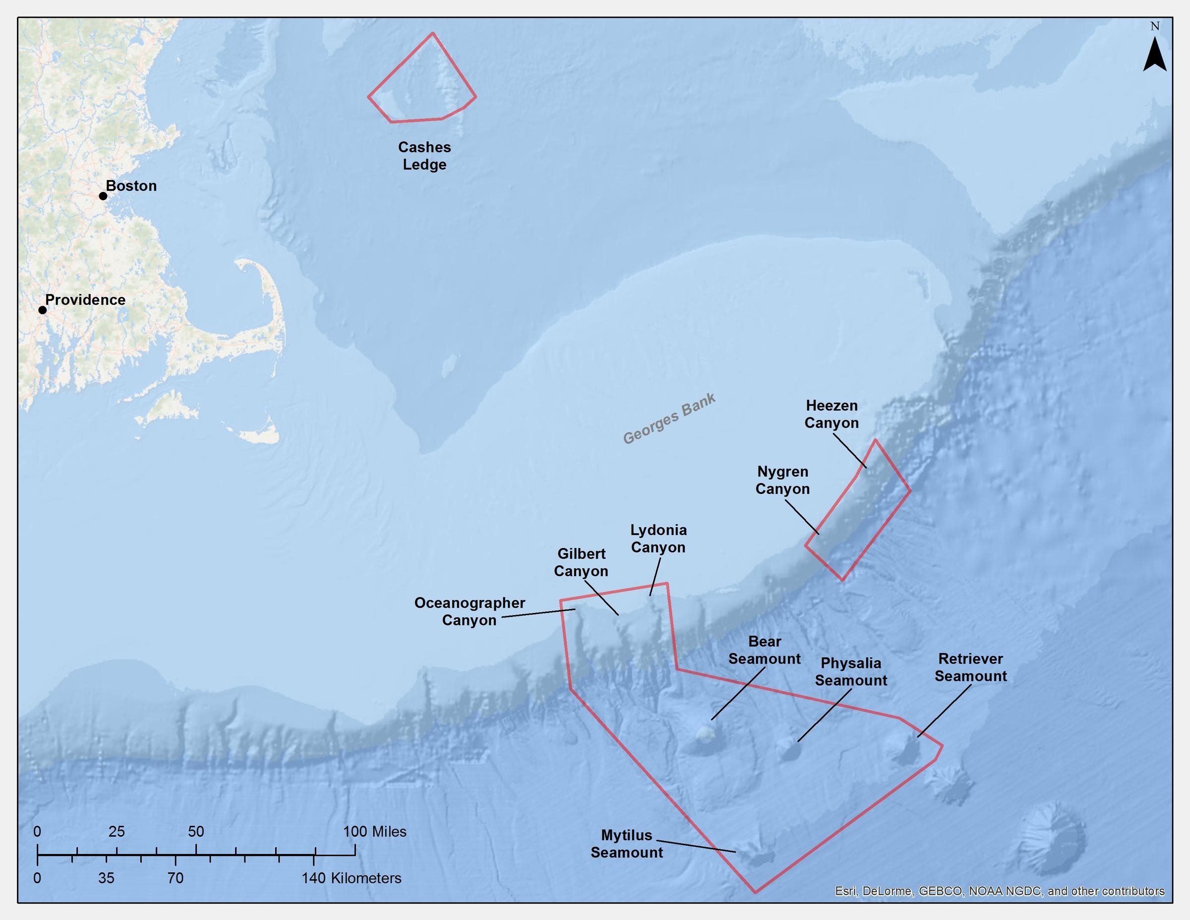 Could New England Host The Atlantic Oceans FirstEver Marine - Atlantic ocean on us map