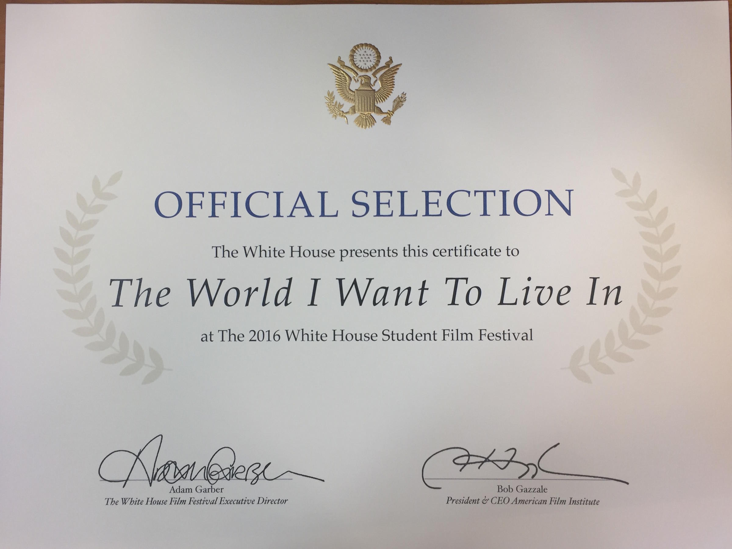 Connecticut middle schoolers film honored at white house white house officials noted that nearly all of the videos submitted had one thing in common none of them talked about a future full of flying cars or 1betcityfo Choice Image