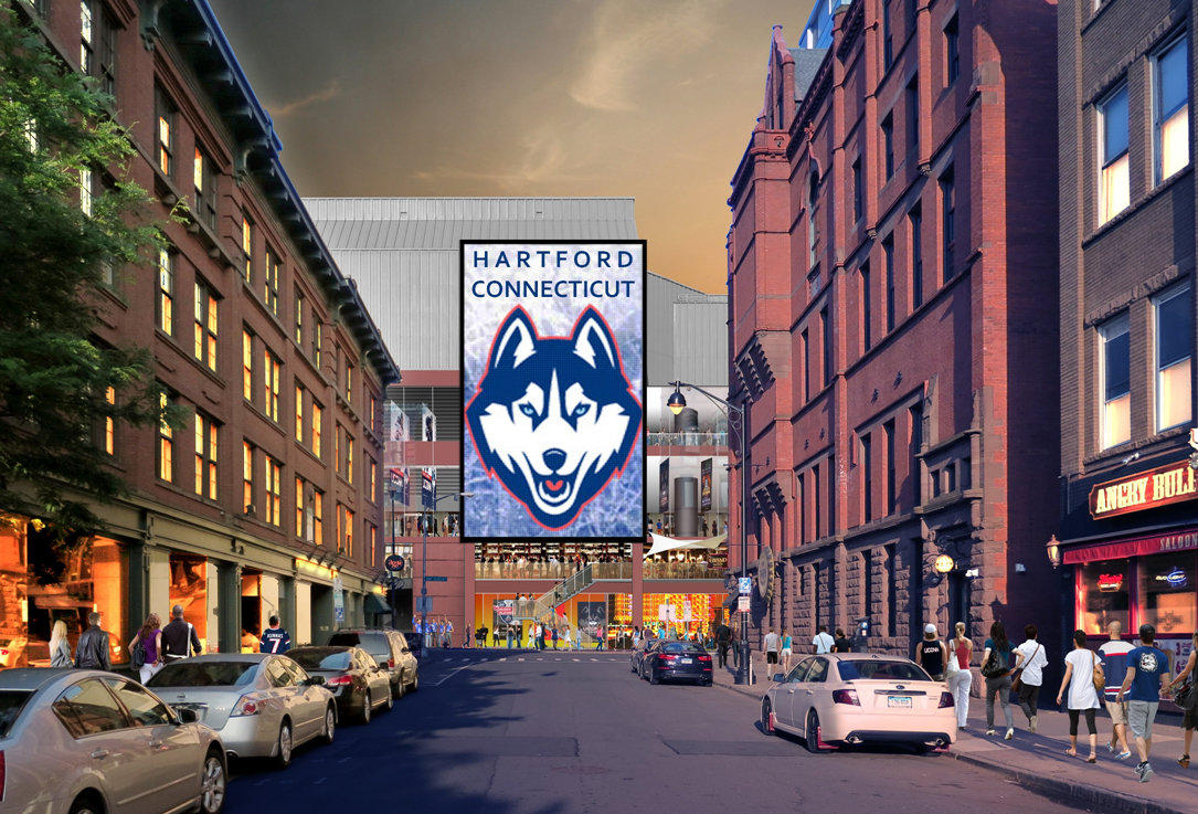 Xl center renovation updates hartford wolf pack - The Xl Center S Proposed Ann Street Facade