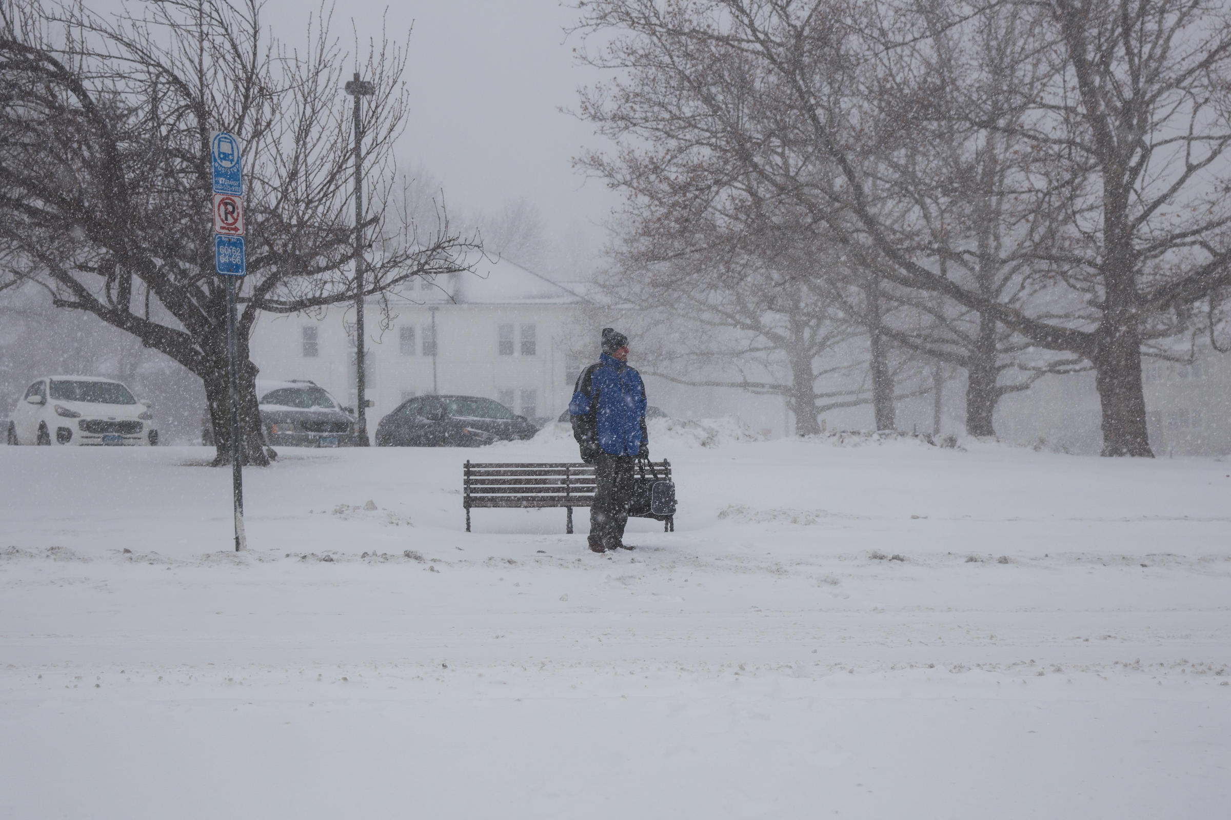 First Nor Easter Of The Year Brings Heavy Snow Wind To