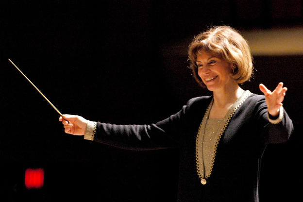 Joann Falletta leads the London Symphony Orchestra