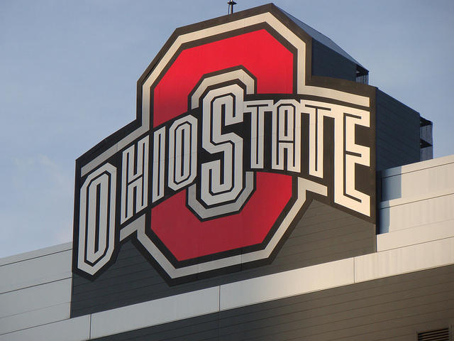 Ohio State logo on Ohio Stadium scoreboard