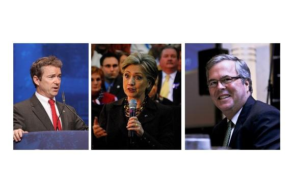 U.S. Sen. Ron Paul, former Secretary of State and U.S. Sen. Hillary Clinton, and former Florida Governor Jeb Bush are among the leading candidates, according to the swing state poll by Quinnipiac University.