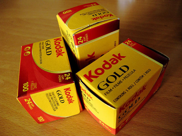 Kodak Gold Film boxes