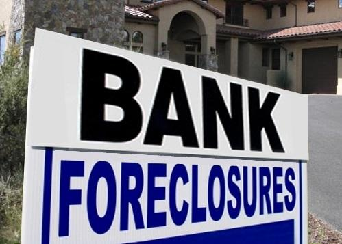 Bank foreclosure sign