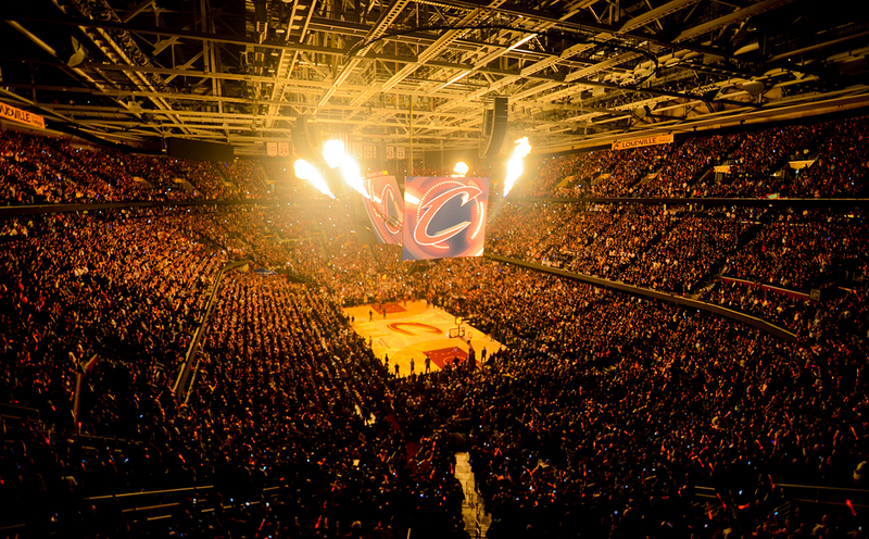 Cleveland Cavaliers home court prior to a game
