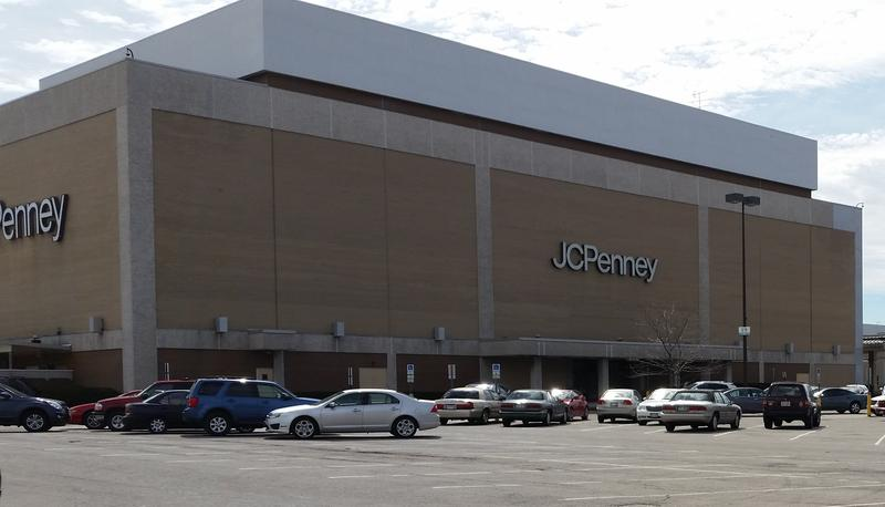 outside of J.C. Penney Eastland building