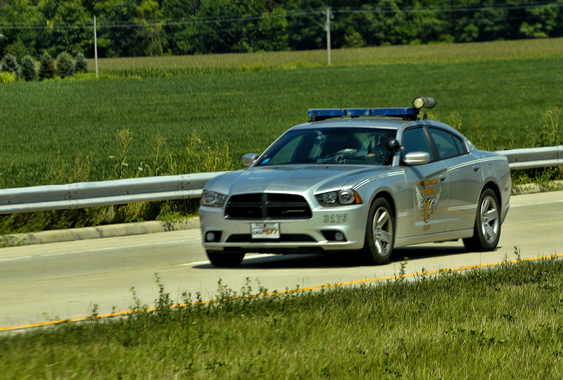 Ohio State Highway Patrol cruiser driving