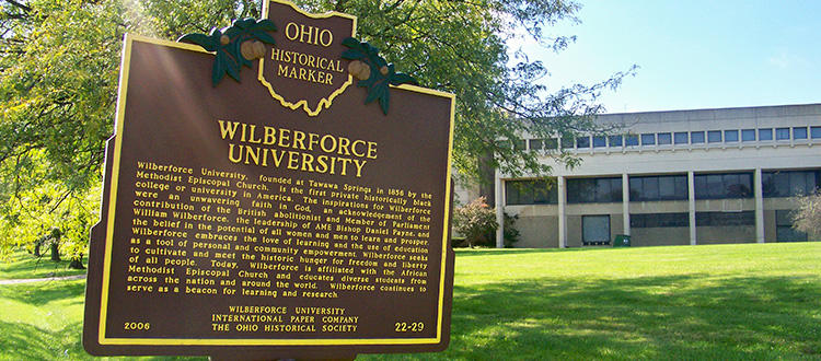 Ohio Historical Marker on the campus of Wilberforce University