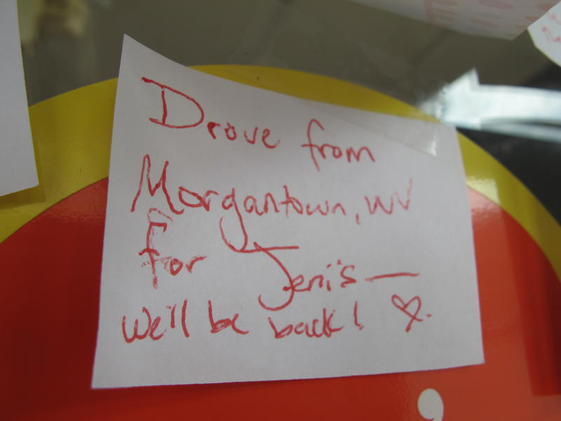 """Drove from Morgantown, WV for Jeni's. We'll be back!"""