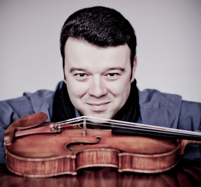 Vadim Gluzman with a violin