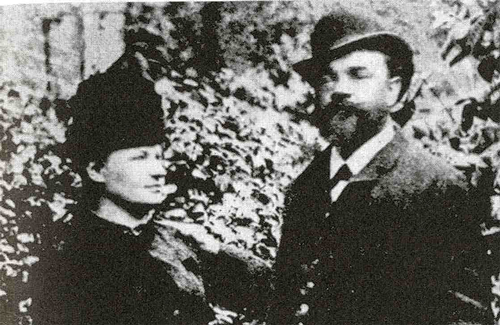 Antonin Dvořák with his wife Anna in London, 1886